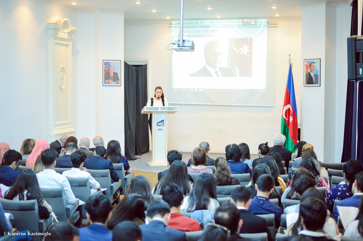 Qərbi Kaspi Universitetində elmi-praktik konfrans keçirilib
