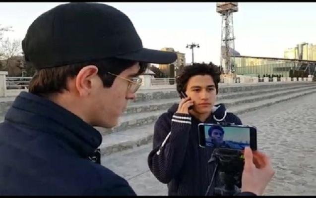 Orta məktəb şagirdi abituriyent intiharını filmə aldı - video