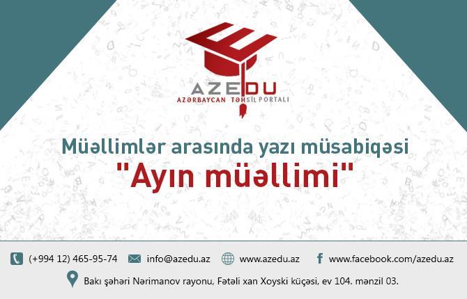 AzEdu.az-ın silkələyici müsabiqəsinə yazı qəbulunun vaxtı uzadıldı –Müəllimlər üçün son tarix