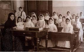 Tağıyevin qızlar məktəbinin açılışından bir fraqment – Tarixi foto