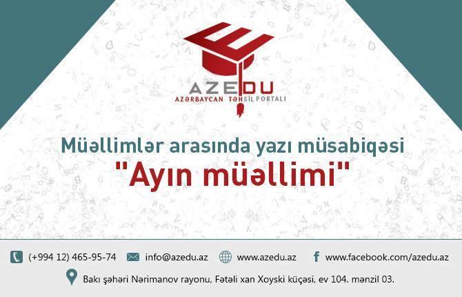 """Müsabiqə iştirakçılarının nəzərinə: """"Ayın müəllimi""""-də səsvermə vaxtı uzadıldı"""