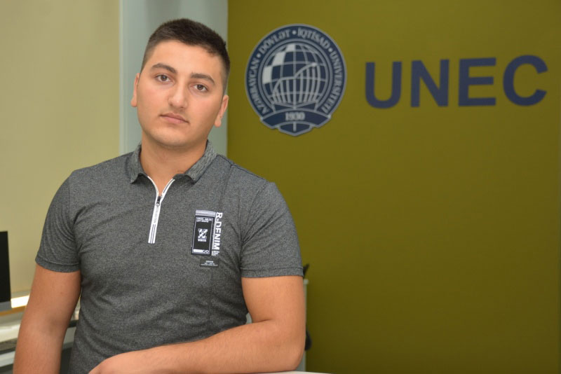 """""""UNEC Azərbaycanın ən yaxşı universitetləri sırasındadır"""" -Prezident təqaüdçüsü"""