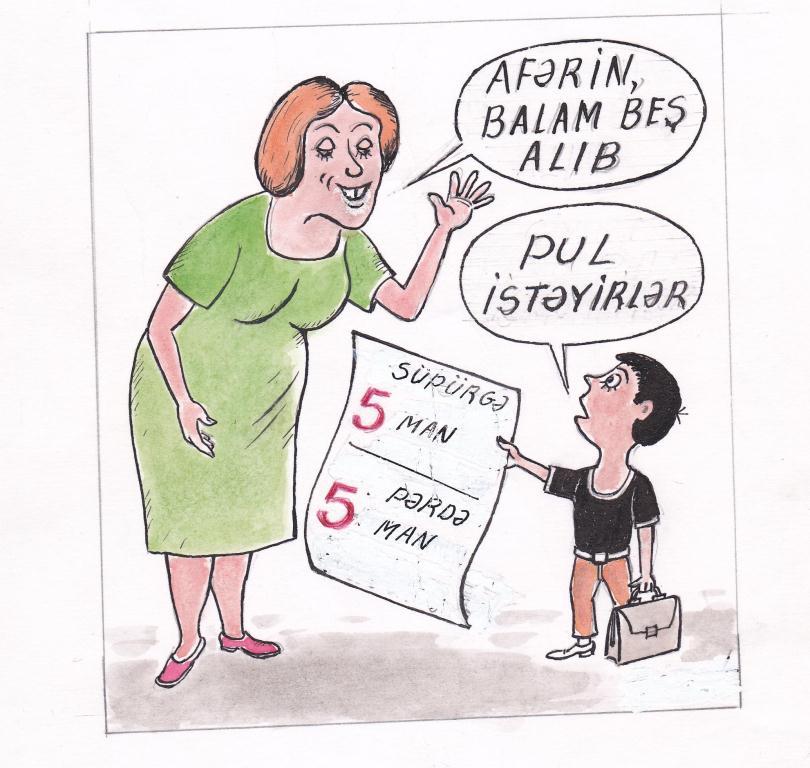 Təhsil gündəmini karikaturalarda izlə - AzEdu.az-dan daha bir layihə