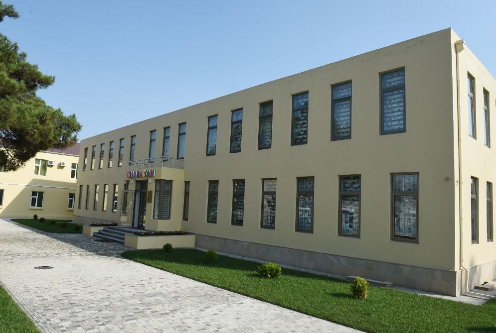 Heydər Əliyev Fondunun təşəbbüsü ilə inşa edilən körpələr evi-uşaq bağçası istifadəyə verildi