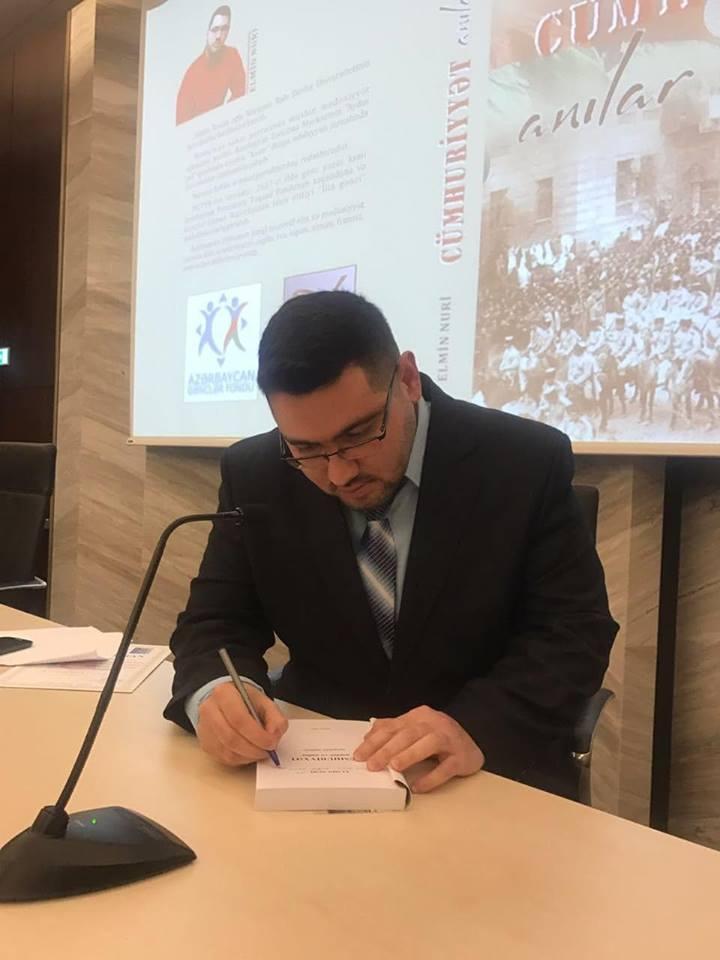 AZEdu.az əməkdaşının Cümhuriyyətlə bağlı kitabının təqdimatı keçirildi - FOTOLAR