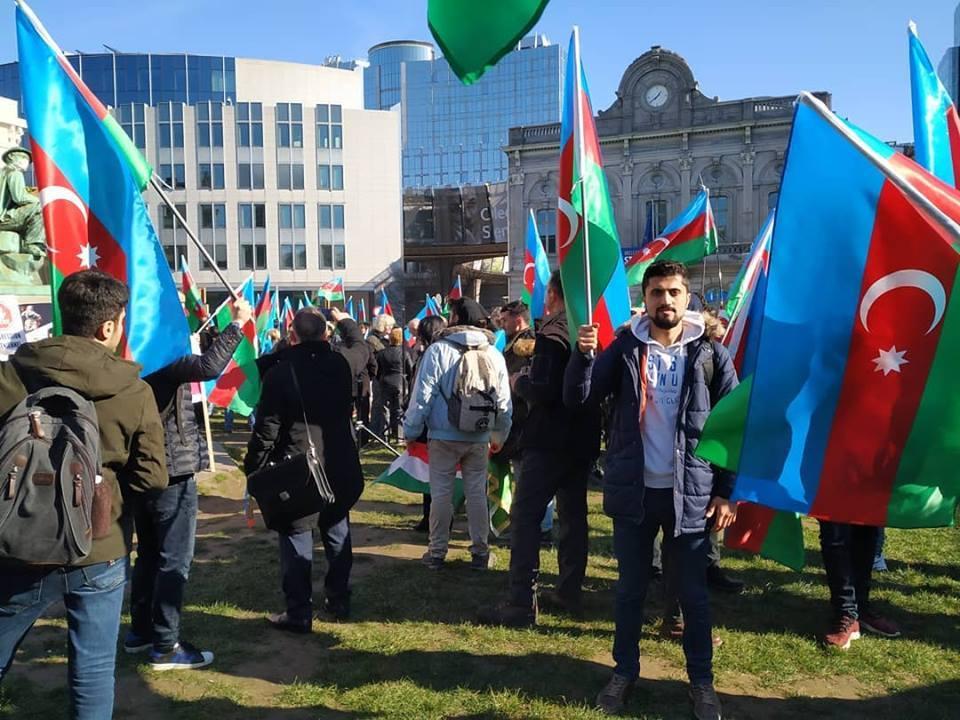 Xaricdəki tələbələrimizin Xocalı harayı – Brüsseli kədərləndirən aksiya - FOTOLAR