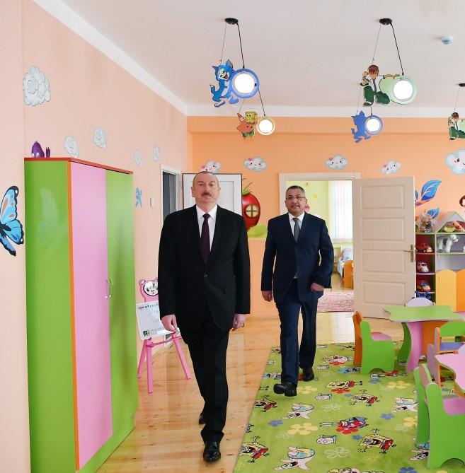 Prezident uşaq bağçasının açılışında iştirak etdi