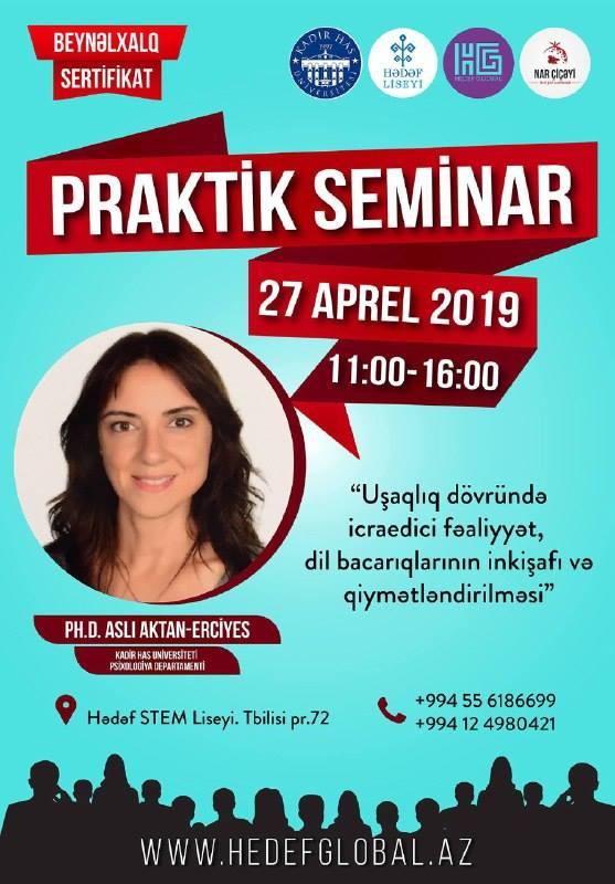 Beynəlxalq sertifikatlı praktik-seminar keçirilib