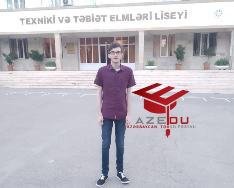 """Qəbul imtahanında maksimum bal toplayan Tofiq:""""Uğurumu öz zəhmətimə borcluyam"""""""