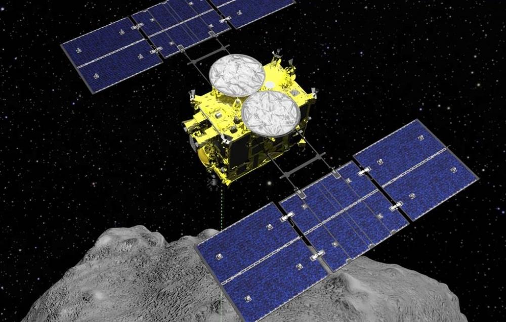 """Yaponiyanın """"Hayabusa-2"""" kosmik zondu Ryuqu asteroidini tərk edərək Yerə qayıdır"""