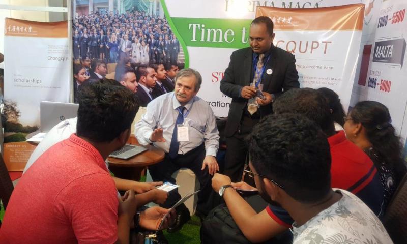 ADNSU Şri Lankada keçirilən təhsil sərgisində
