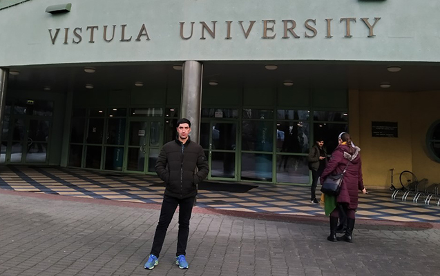 BMU məzunu nüfuzlu Vistula Universitetində