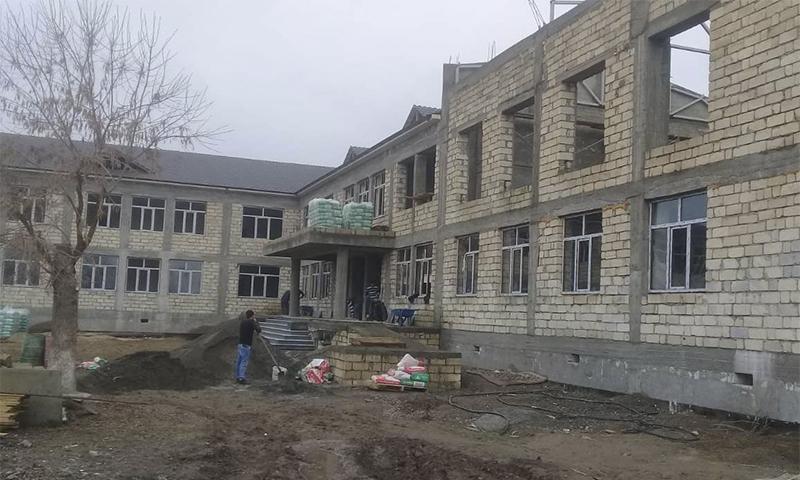Orta Muğan kəndində 432 şagird yerlik məktəb inşa olunur