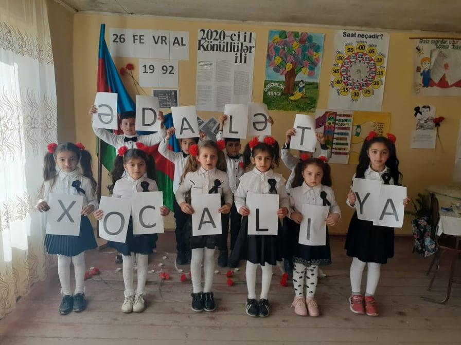Ucqar kənd şagirdlərinin Xocalı harayı - İngilis dilində çağırış-VİDEO