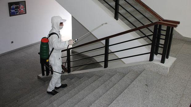 Məktəbdənkənar təhsil müəssisələrində dezinfeksiya işləri aparılır - FOTO