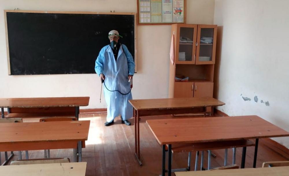 İsmayıllıda təhsil müəssisələri, idman zalları dezinfeksiya olunur