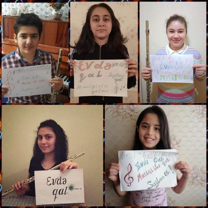 Musiqi məktəbi şagirdlərlə tədris proqramını internet üzərindən davam etdirir