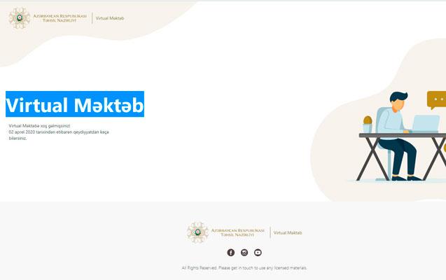 """""""Virtual məktəb"""" bütün fövqəladə vəziyyətlərə hazır layihədir"""" - Ekspert"""