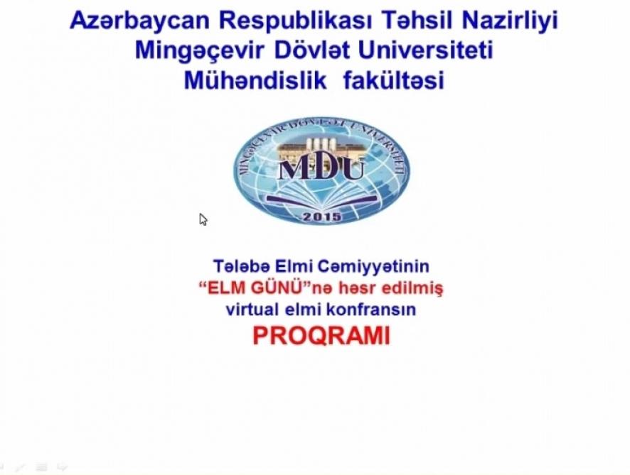 Mingəçevir Dövlət Universitetində virtual elmi konfrans keçirilib