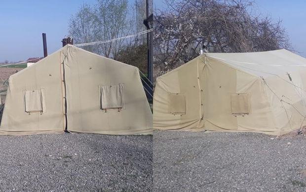 Ağdamda dərslər çadırda keçirilib - FOTO
