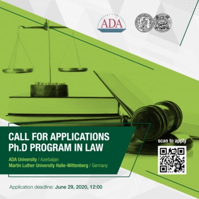 ADA Universiteti Almaniyanın Halle-Vittenberq Universiteti ilə birgə doktoranturaya sənəd qəbulu elan edir