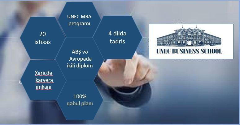 UNEC Biznes Məktəbinin MBA proqramının üstünlükləri