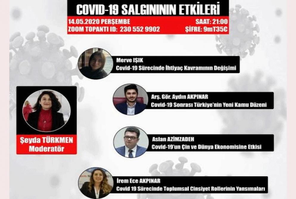 UNEC-in gənc tədqiqatçıları türkiyəli həmkarları ilə COVID-19 virusunun təsirlərindən danışıblar