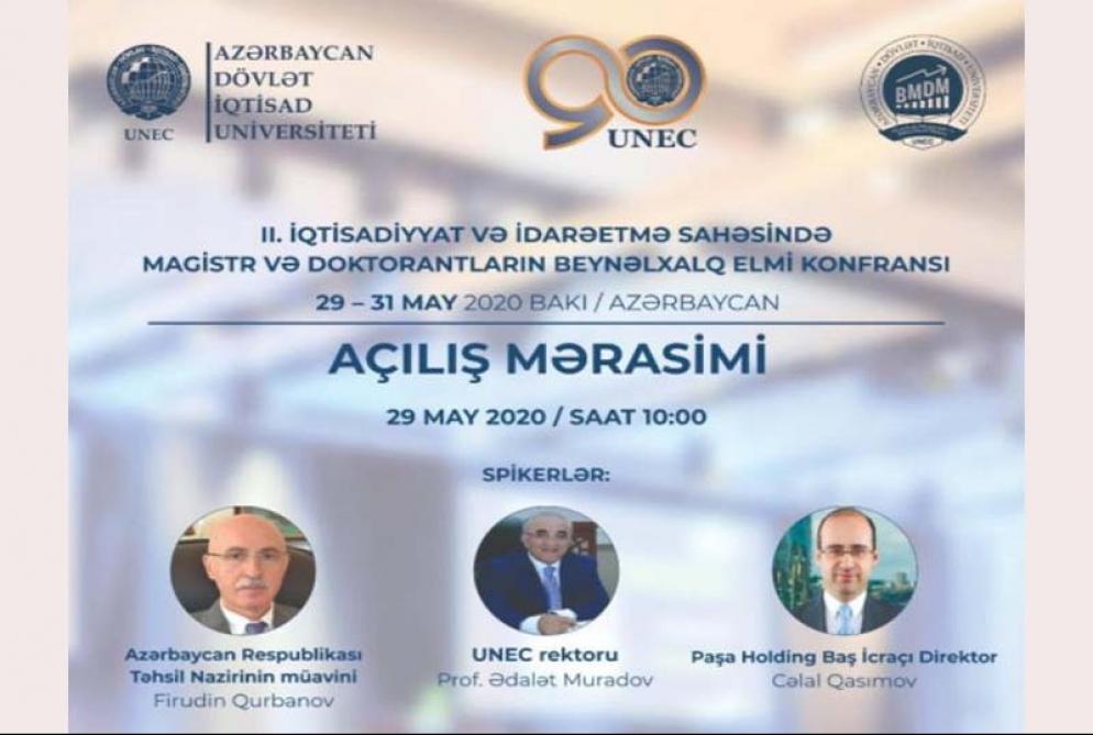 UNEC-də magistr və doktorantların beynəlxalq elmi konfransı keçirilir