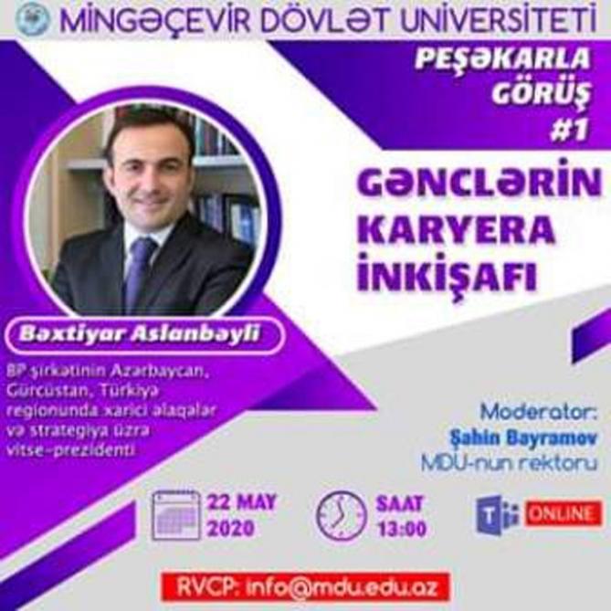 """Mingəçevir Dövlət Universiteti """"Peşəkarla görüş"""" layihəsinə start verir"""