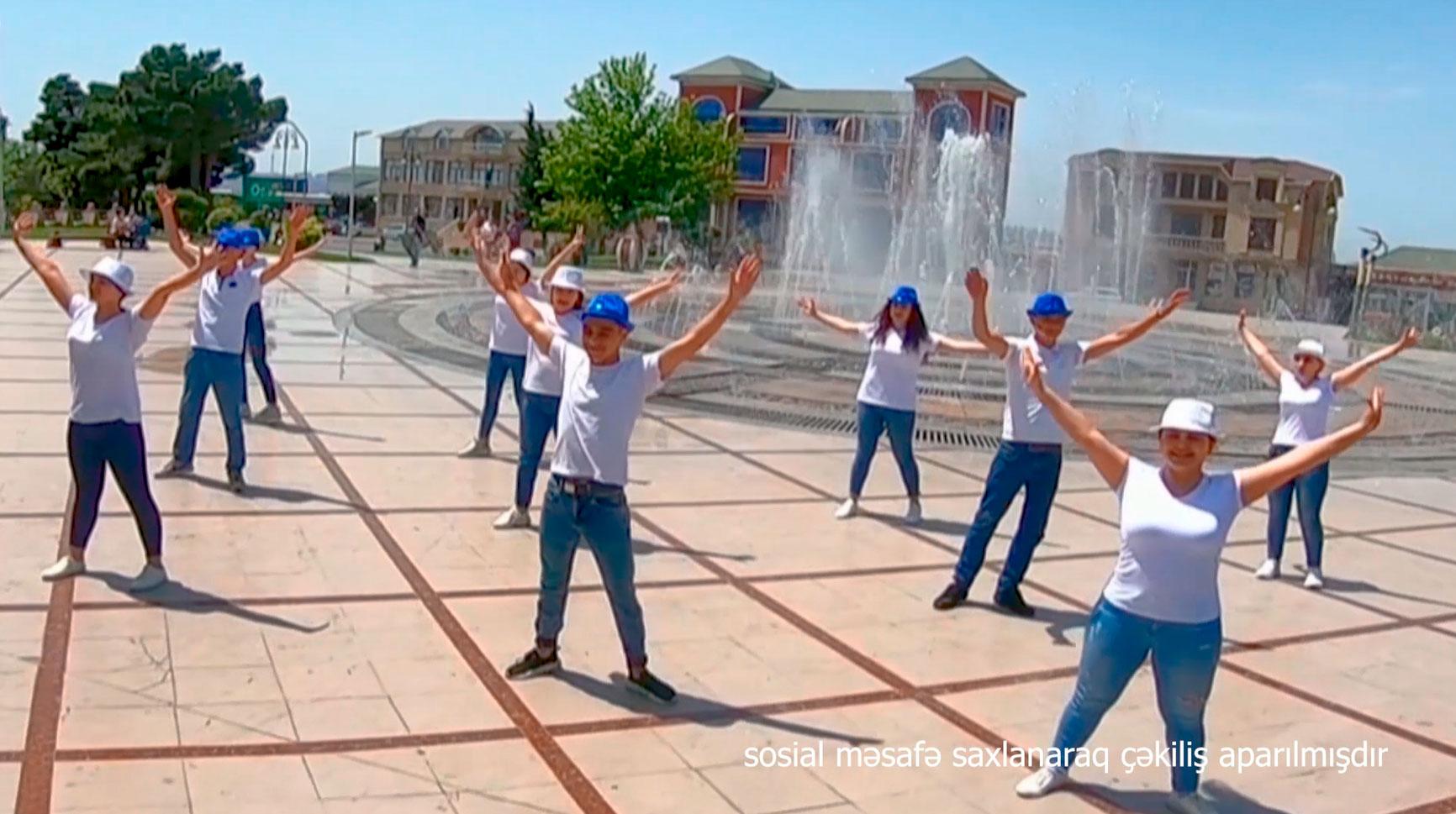 Uşaqların Beynəlxalq Müdafiəsi Gününə həsr olunmuş fləşmob