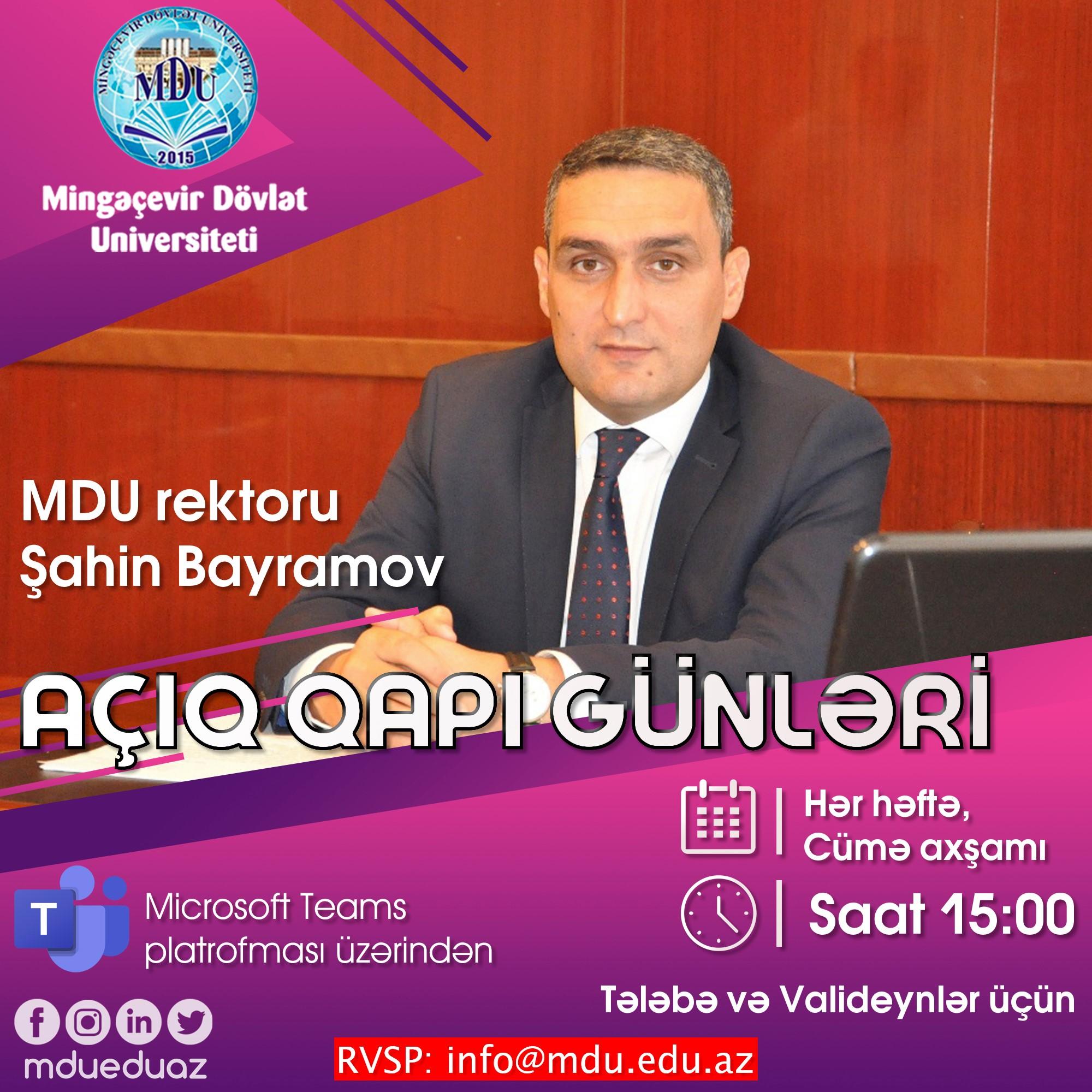 """Mingəçevir Dövlət Universitetində """"Açıq qapı günləri"""" keçiriləcək"""