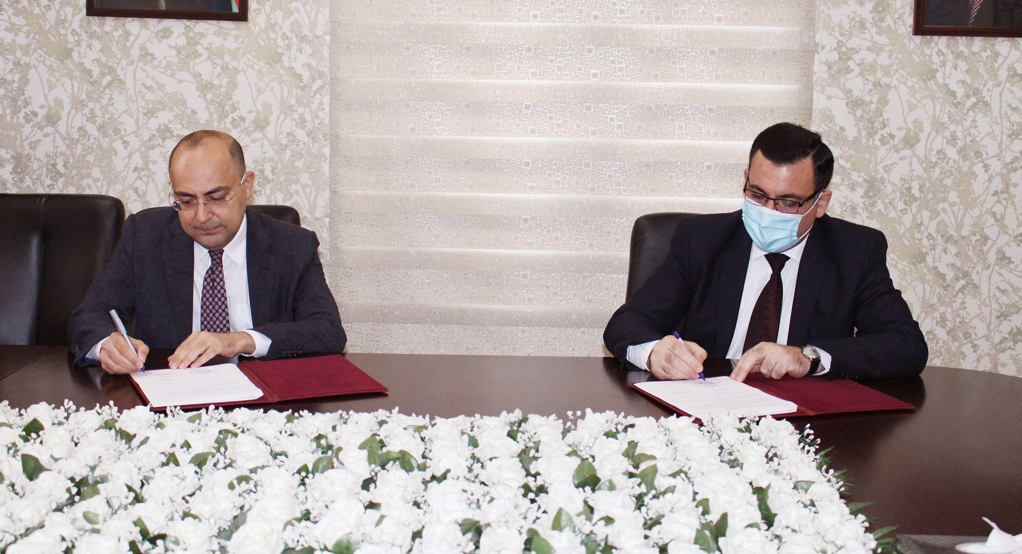 ADNSU ilə Dövlət Mineral Xammal Ehtiyatlarından İstifadə Agentliyi arasında müqavilə imzalanıb