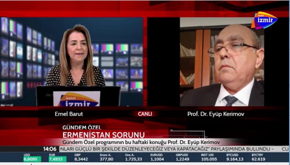 Azərbaycan Texniki Universitetinin professoru Türkiyə telekanalında erməni yalanlarını ifşa edib