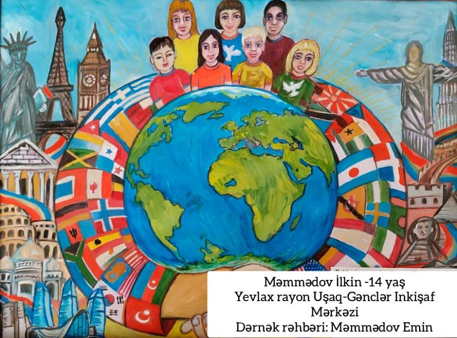 """""""Biz planetin uşaqlarıyıq"""" beynəlxalq rəsm müsabiqəsi yekunlaşıb"""