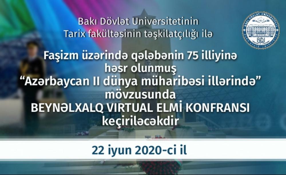 Bakı Dövlət Universitetində beynəlxalq virtual elmi konfrans keçiriləcək