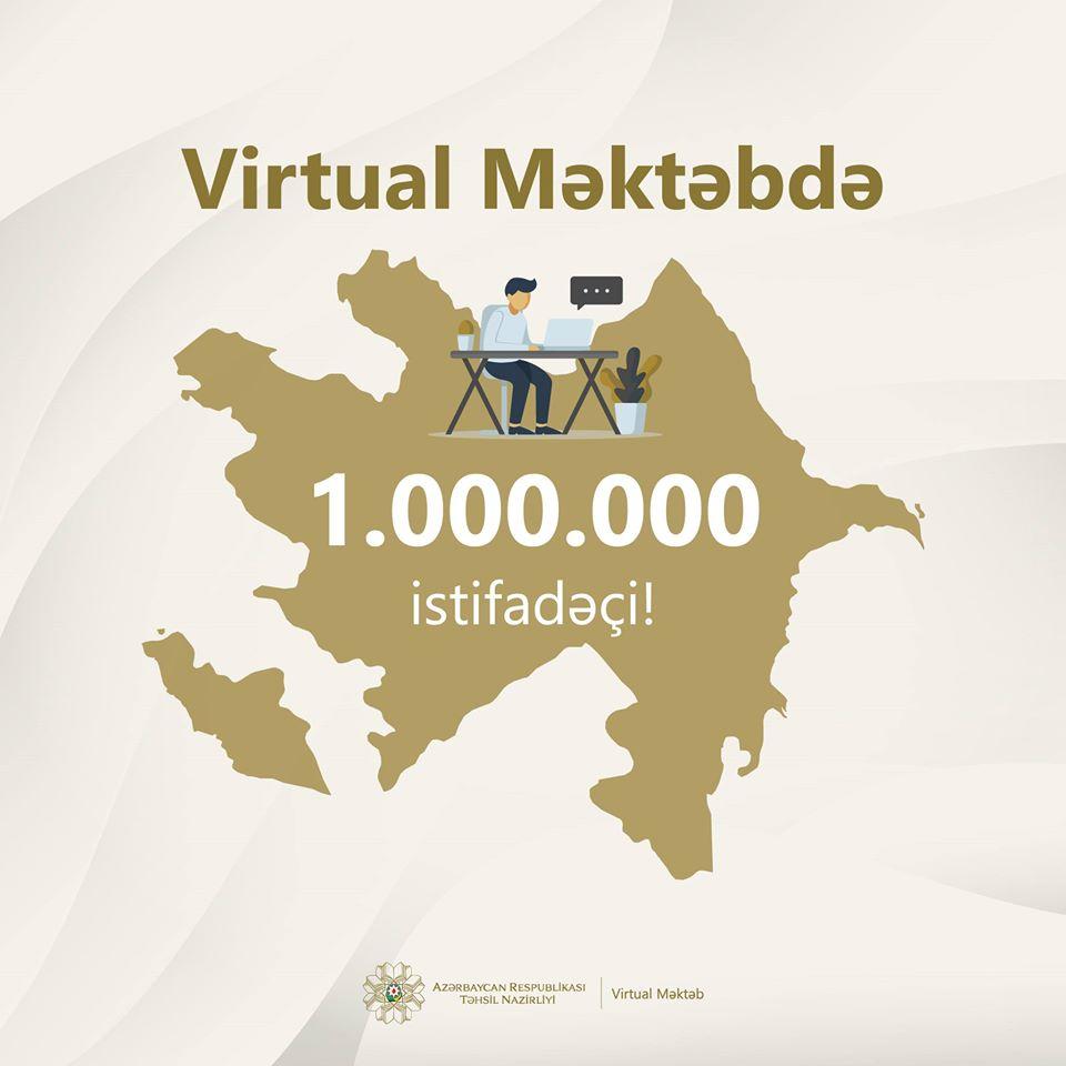 """""""Virtual Məktəb""""in istifadəçi sayı 1 milyonu ötdü-RƏSMİ"""