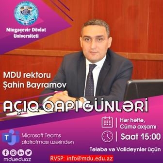 """Mingəçevir Dövlət Universitetində iyun ayı ərzində dördüncü """"Açıq qapı"""" günü keçirilib"""