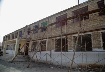 Salyanın Arbatan kənd tam orta məktəbinin binası əsaslı təmir olunur