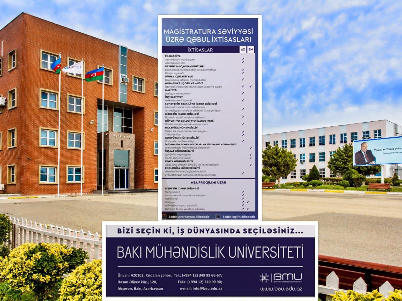 BMU-da magistratura təhsili almağın üstünlükləri