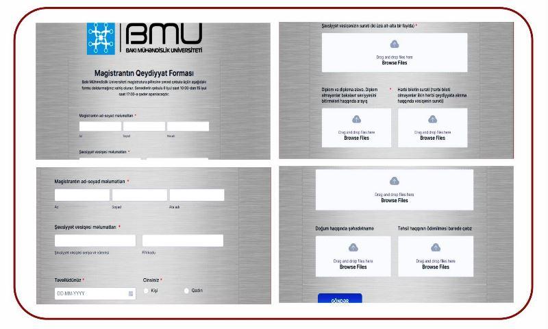 BMU-nun magistratura səviyyəsinə yeni qəbul olmuş tələbələrin qeydiyyatı asanlaşdırıldı