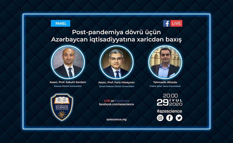 """ASA """"Post-pandemiya dövrü üçün Azərbaycan iqtisadiyyatına xaricdən baxış"""" mövzusunda vebinar keçirəcək"""