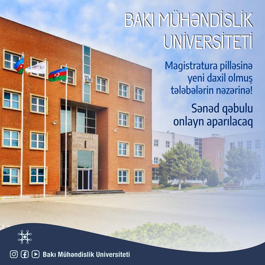 BMU-nun magistratura pilləsinə sənəd qəbulu onlayn aparılacaq