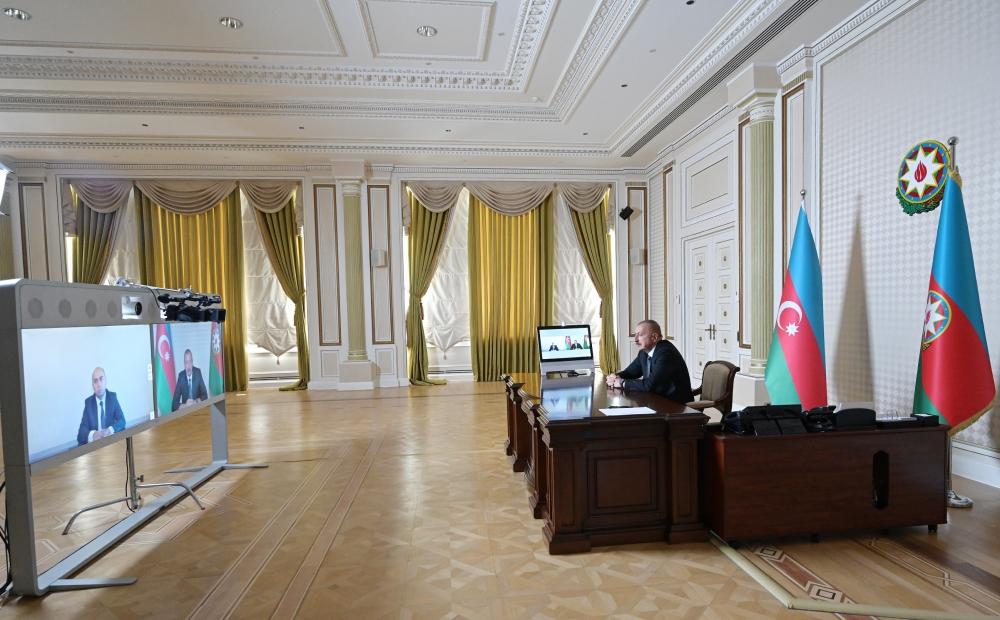 İlham Əliyev yeni Təhsil nazirini videoformatda qəbul etdi