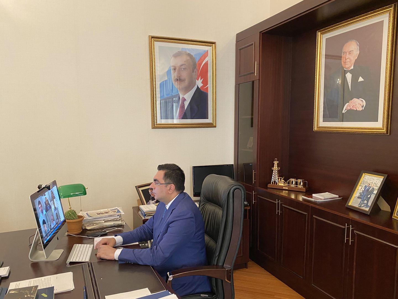 BANM rektoru İstanbul Texnik Universitetinin rektoru ilə onlayn görüş keçirib