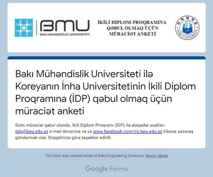 BMU ilə İnha Universiteti arasında ikili diplom proqramına müraciət imkanı sadələşdirildi