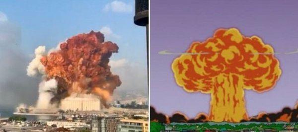"""""""Simpsonlar"""" Beyrutdakı partlayışla bağlı dünyanı heyrətləndirdi -FOTO"""