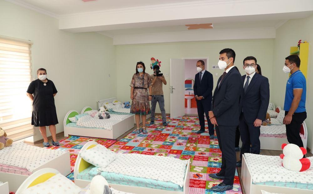 Heydər Əliyev Fondu tərəfindən inşa edilən uşaq bağçalarının açılışı olub - FOTOLAR