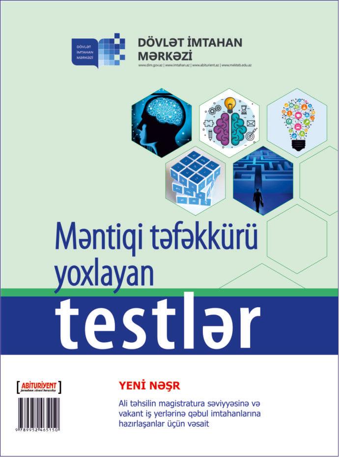 Dim In Yeni Vəsaiti Nəsr Olundu Məntiqi Təfəkkuru Yoxlayan Testlər Azedu Az Azərbaycan Təhsil Portali